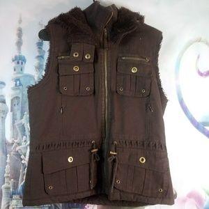 🌺 - Brown miss bisou hooded vest